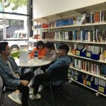 High school students take a break at Ozford Melbourne