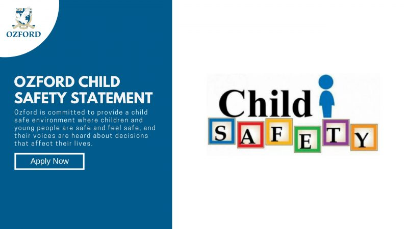 Ozford Child Safety Statement